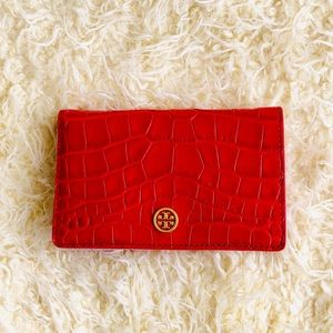 NWT: TORY BURCH Parker Embossed Medium Slim Wallet